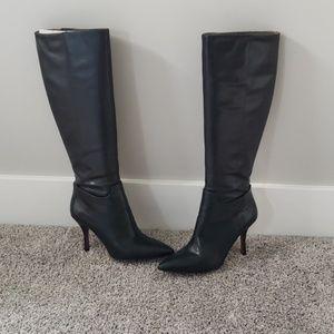 Knee high stiletto boots